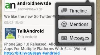 Go Launcher jetzt mit Twitter- und Facebook-Widgets