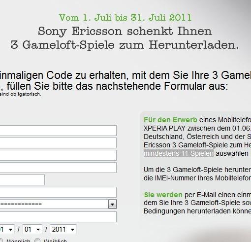 3 Gratis-Gameloft-Spiele für frischgebackene Xperia Play-Besitzer