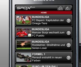 SPOX.com Mobile: Sport-App mit Tor-Alarm für Android