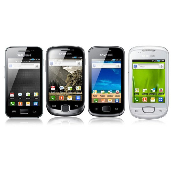 Samsung: Galaxy Nachwuchs Ace, Fit, Gio und Mini vorgestellt