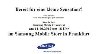 Samsung Galaxy Music: Vorstellung eines Musik-Phones am 11. Oktober?