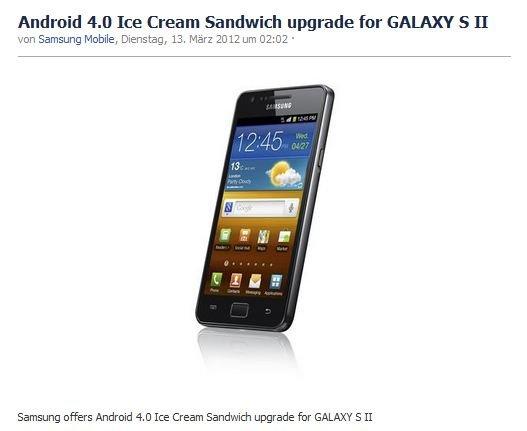 Samsung Galaxy S2: ICS-Update rollt in Korea, Ungarn, Polen und Schweden aus