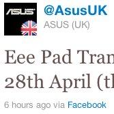 Asus Eee Pad Transformer: Software-Update für UK [Update: live, fixt Kamera]