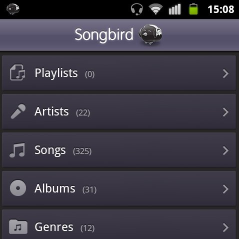 Songbird: Beta Version des Media Players für Android erschienen