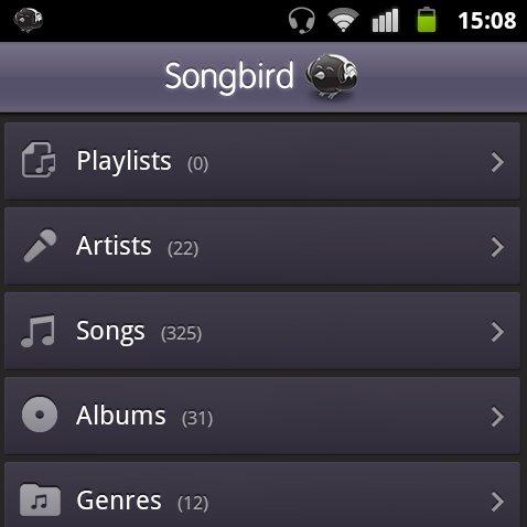 Songbird: Beta Version des Media Players für Android erschienen