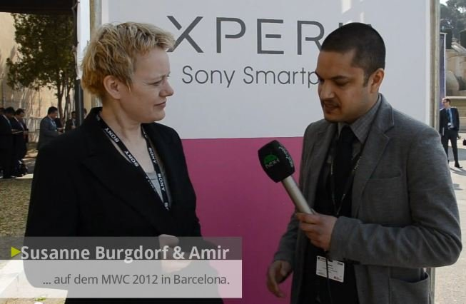 Sony Mobile: Pressesprecherin Susanne Burgdorf im Interview [MWC 2012]