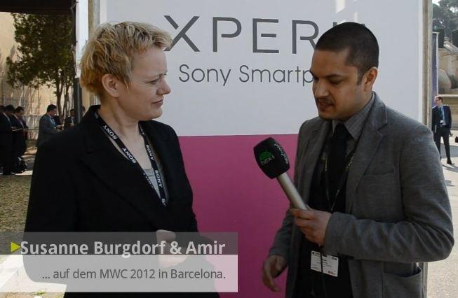 Sony Mobile: Pressesprecherin Susanne Burgdorf im Interview [MWC 2012]