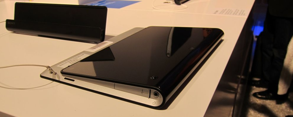 """Sony Tablet S: Hands-On-Video mit dem """"Keil-Tablet"""" [IFA 2011]"""