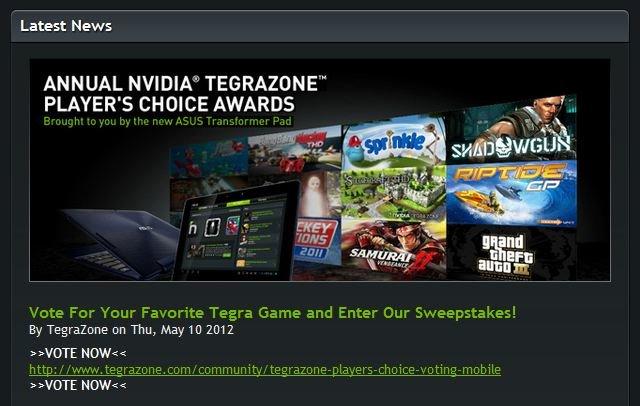 NVIDIA TegraZone: Gewinnspiel zum einjährigen Bestehen