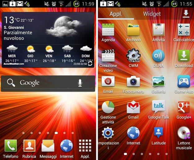 TouchWiz UX: Vom Samsung Galaxy S III auf das SGS2 portiert