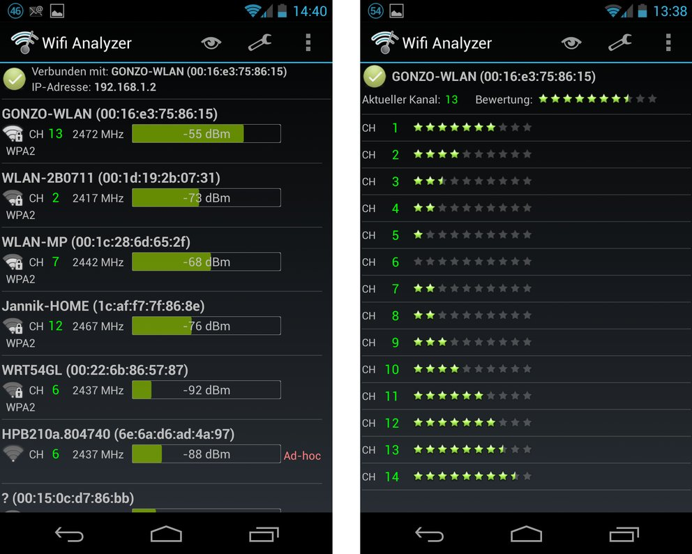 Wifi Analyzer Screens 2