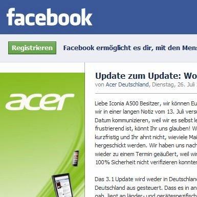 Android 3.1 für Iconia A500: Acer Deutschland fleht um Verständnis für Verspätung [Kommentar]