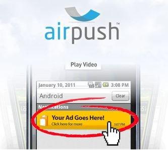 AirPush: Neue Werbemethode für Android-Apps in der Kritik [Update]