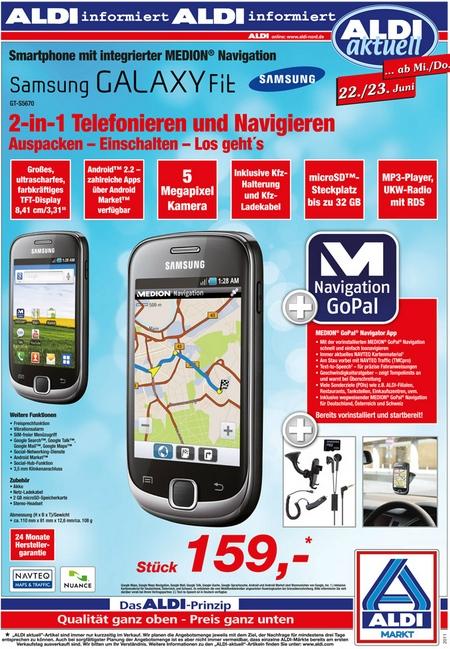 Samsung Galaxy Fit Aldi Prospekt