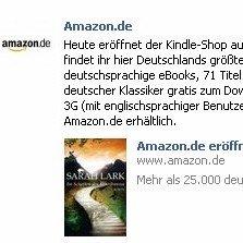 Amazon Kindle-Shop jetzt auch in Deutschland