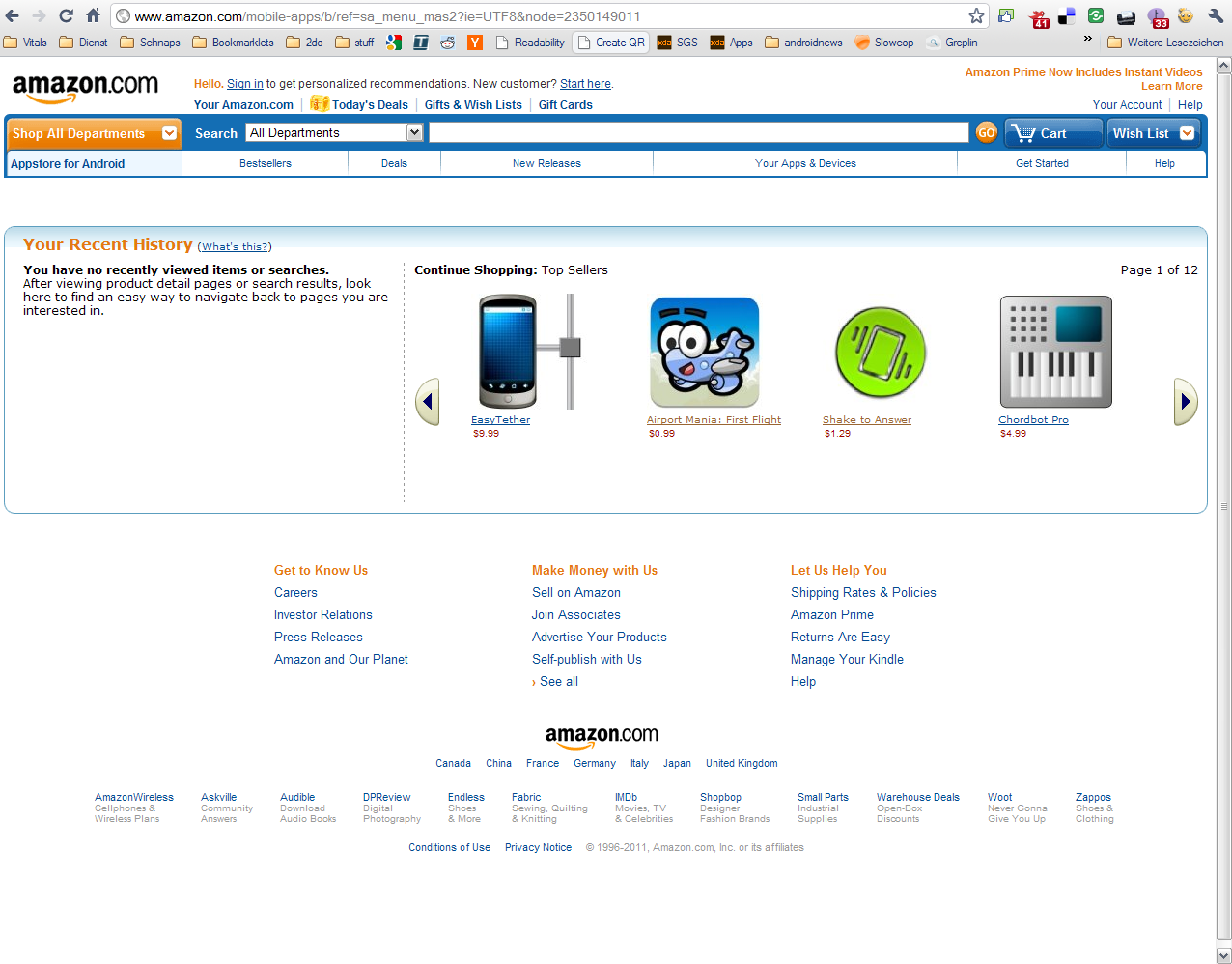 Amazon Appstore: Apps and Prices Leak