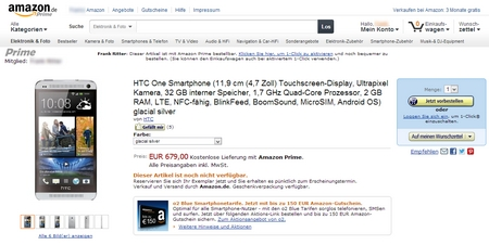 amazon htc one