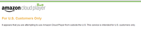 amazon cloud player: in usa only