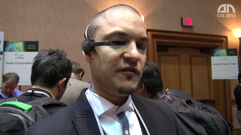 Vuzix Smart Glasses M100: Google Glasses-Konkurrent im Eyes-On [CES 2013]