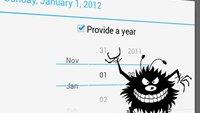 Android 4.2-Bug: Google vergisst Dezember in der Datumsauswahl