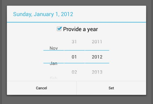 android 4.2 date picker
