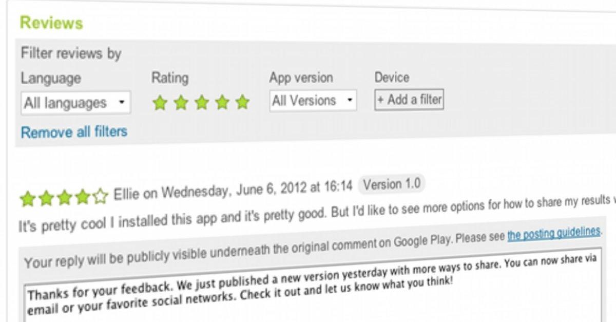Google play store entwickler k nnen auf app reviews antworten giga - Android developer console ...