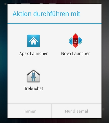 android launcher auswahl
