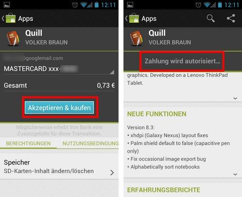 android market app kaufen