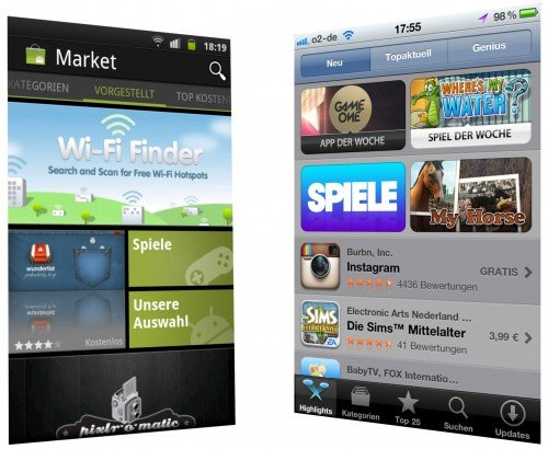 Android Market vs. iOS App Store