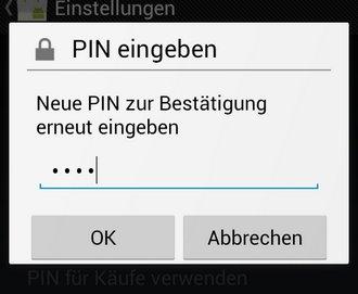 Android Market PIN eingeben