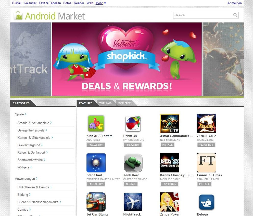 Android Market: APK von Version 3.3.11 aufgetaucht, Download bei uns
