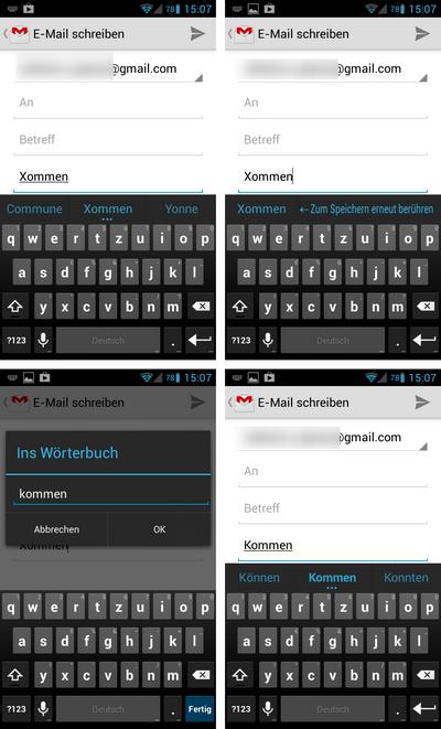 android aosp tastatur begriff lernen