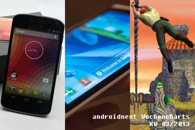 Android-Charts: Die beliebtesten androidnext-Artikel der Woche (KW 3/2013)