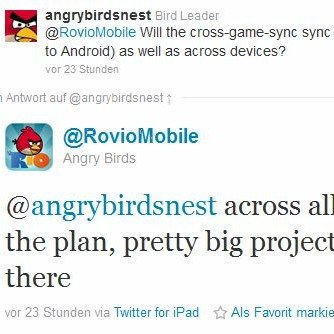 Angry Birds bald mit Cloud-Synchronisation?