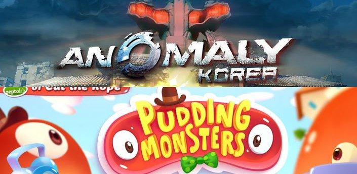 Android-Games: Anomaly Korea und Pudding Monsters veröffentlicht