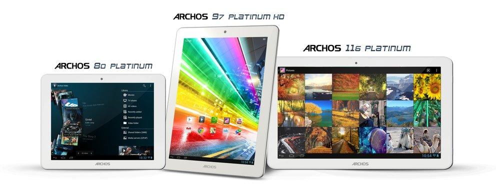 Archos: Platinum-Tablets offiziell, Gerüchte um Smartphone-Reihe
