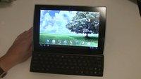 ASUS Eee Pad Slider: Unboxing & Hands-on des Honeycomb-Tablets mit Schiebetastatur