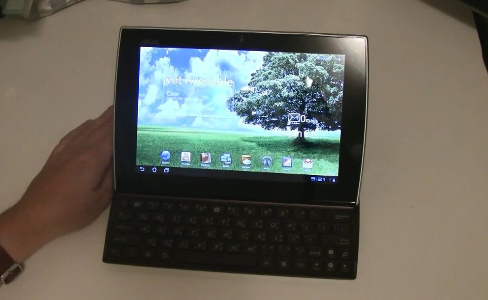 ASUS Eee Pad Slider: Unboxing &amp&#x3B; Hands-on des Honeycomb-Tablets mit Schiebetastatur
