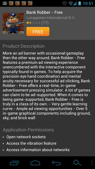 bank robber free app description
