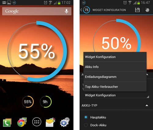 battery widget reborn: widget und widget settings