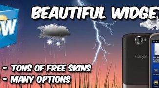 Beautiful Widgets: Uhr- und Wetter-Widget kostenlos bei GetJar
