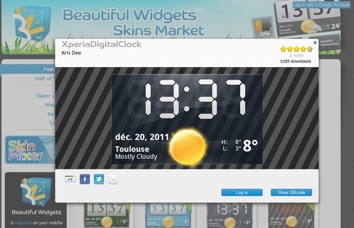 beautiful widgets skin market