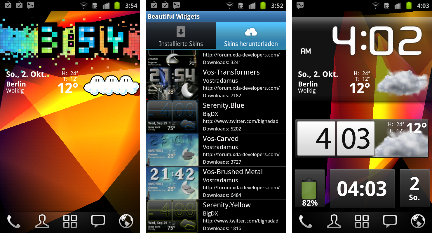 Beautiful Widgets Android