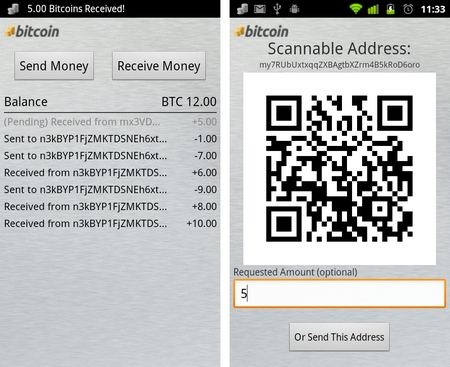 bitcoins android