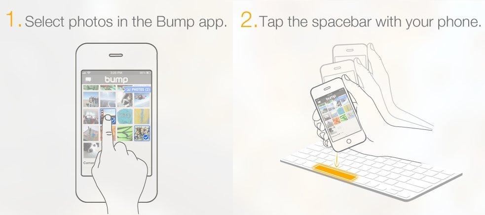 Bump: Fotos vom Smartphone auf den PC übertragen – per Leertaste