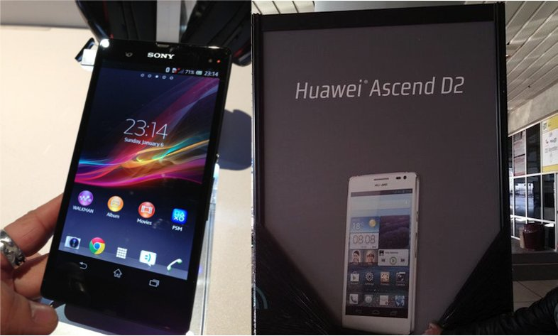 Messe-Leaks: Sony Xperia Z in drei Farben, Huawei Ascend D2 auf Plakat bestätigt [CES 2013]