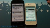 Browser-Vergleich: Google Chrome auf dem Galaxy Nexus vs. Safari auf dem iPhone 4S