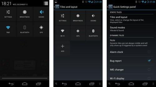 cyanogenmod quick settings