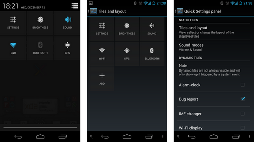 cyanogenmod quick settings