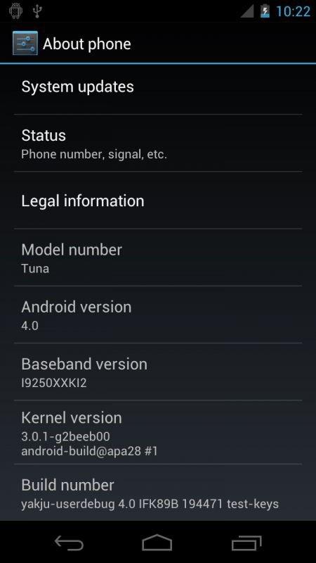 Nexus Prime Sysinfos